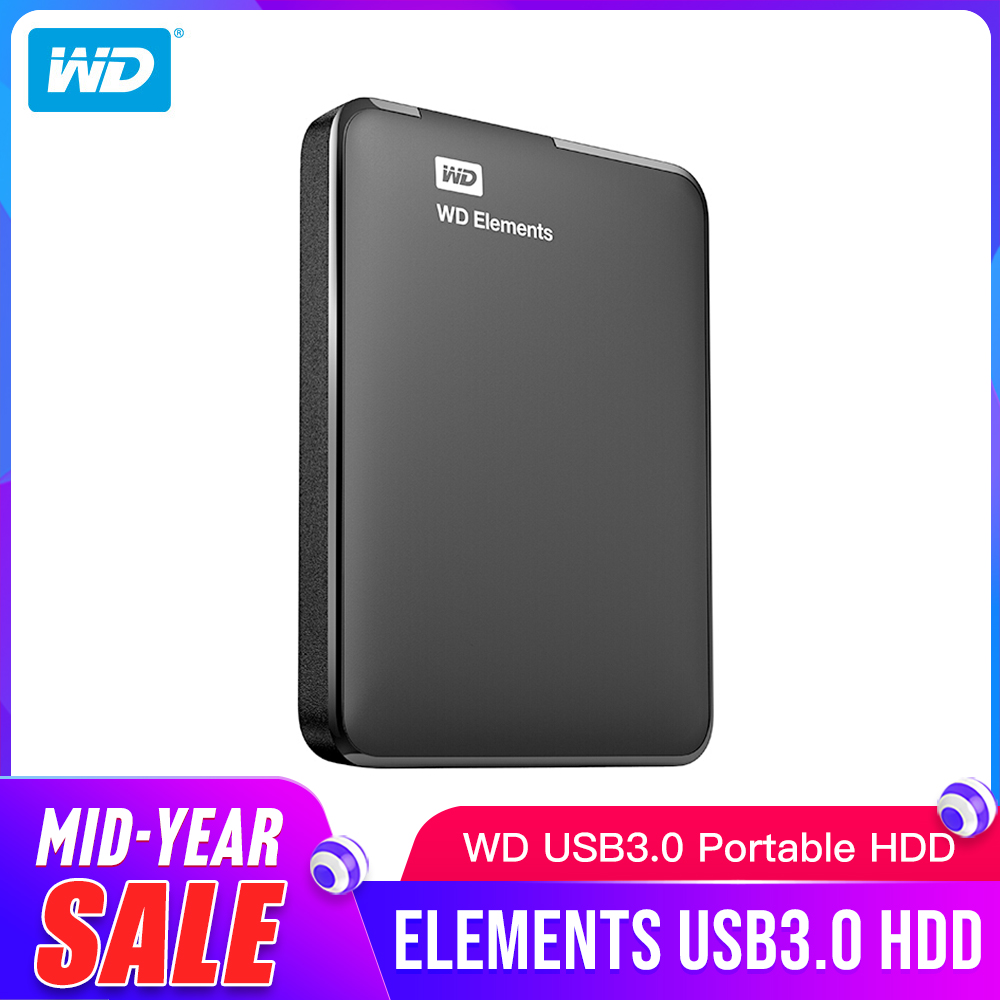 Western Digital WD Elements Portable External hdd 2 5 USB 3 0Hard Drive Disk 1TB Original