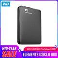 Western Digital WD Elements Портативный внешний hdd 2,5 USB 3,0 жесткий диск 1 ТБ оригинал для ПК ноутбука