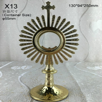 100% high quality monstrance Catholic supplies good beautiful and elegant holy church for home holy gift souvenir