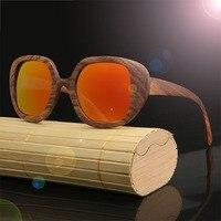 HDCRAFTER 2017 Brand Sunglasses Products Men Women Zebra Wood Sun Glasses Polarized Lens Wooden Frame Handmade