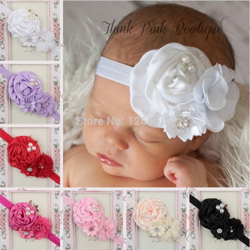 Chica Vendas del bebé Accesorios Del Pelo Del Bebé Venda de La Flor Hairband Bebés Haarband
