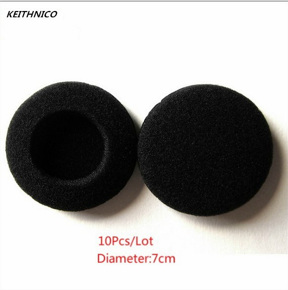10Pcs 70mm Soft Foam Earbud Eartips Headphone Ear pads Replacement Sponge Covers Tips For Earphone Headset MP3 MP4 Of 7-7.5CM 1pcs black 3 5mm 1 in 2 couples audio line earbud headset headphone earphone splitter for pad phone android mobile mp3 mp4