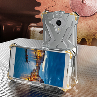 Simon Luxury For Meizu Meilan Max Phone Case THOR IRONMAN Shockproof Metal Aluminium Anti Knock Protective