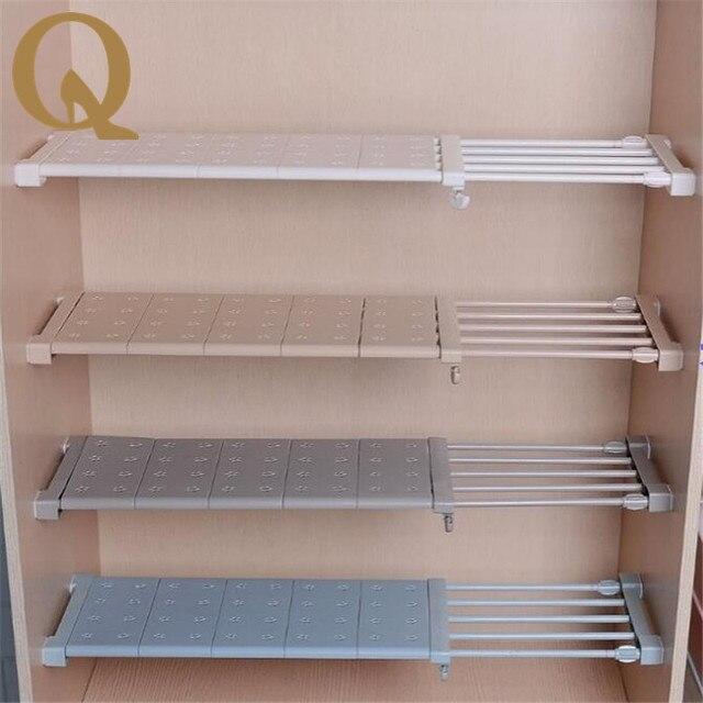 Wardrobe Storage Shelf Cabinet Layered Parion Board Nail Free Kitchen Bathroom