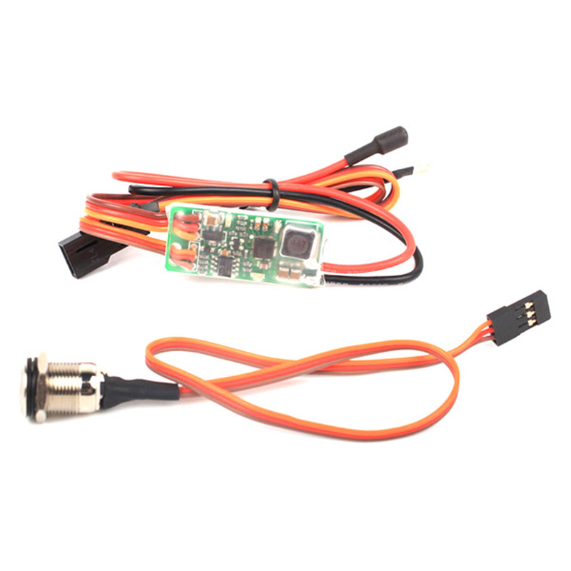 RCEXL Universal On Board Glow System Methanol Engine Ignition With LED Indicator for Airplane Parts RC Accessories wire universal board computer board six lines 0040400256 0040400257 used disassemble