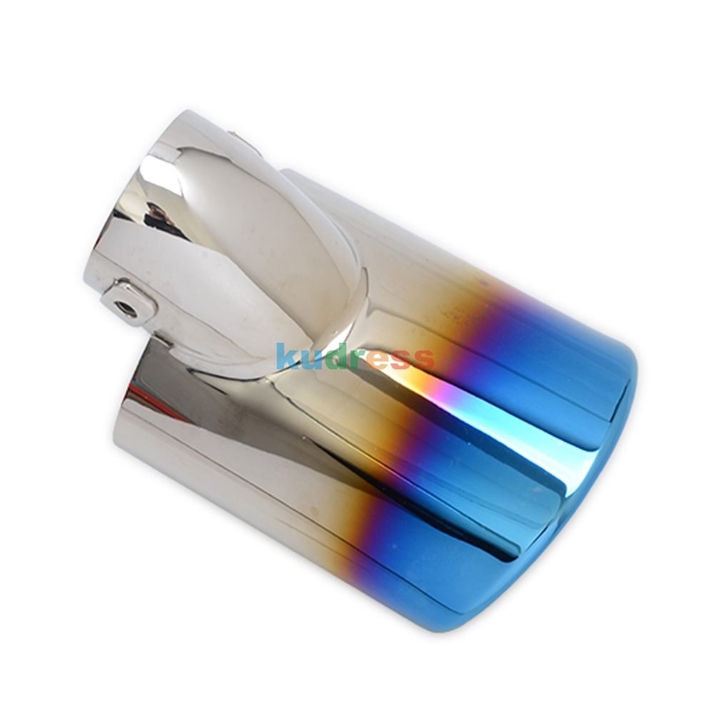 Для Subaru OUTBACK 2010 2011 2012 2013 синий глушитель из нержавеющей стали наконечник трубы выхлопные трубы глушитель труб