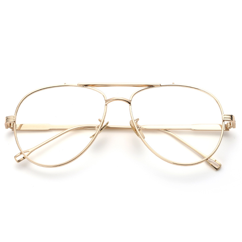 854cac1d3e 2017 Fashion Eyeglasses Frame Women Computer Optical Spectacle Male Vintage  Gold Glasses Frames Transparent Clear Lens Female-in Eyewear Frames from  Apparel ...