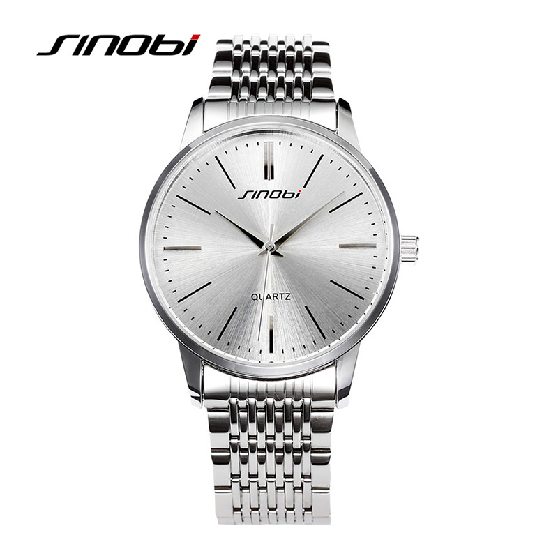 SINOBI High Quality Relogio Feminino Luxury Lovers'  Watch Water Resistant Rhinestone Quartz Wristwatches Complete Calendar