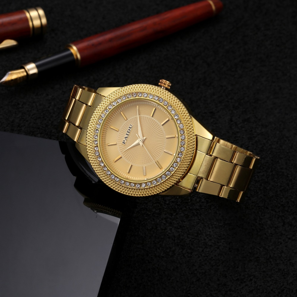 Paidu Wrist Watch Women Watches Luxury Rhinestone Ladies Watch Fashion Gold Women's Watches Clock saat relogio feminino montre free shipping smart watch c7 smartwatch 1 22 waterproof ip67 wristwatch bluetooth 4 0 siri gsm heart rate monitor ios