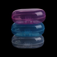 Portable Baby Infant Finger Toothbrush Case Holder Storage Box Clear Travel(China)