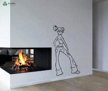 YOYOYU Wall Decal Vinyl Art Home Decor Sticker Mural Stylish Girl Jeans Beauty Fashion Poster YO542