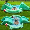 Multi-Função de Tamanho Grande Ao Ar Livre Inflável de Natação Piscina inflável Com Escorregador de Água Uso Doméstico Playground Piscina Bebe Zwembad