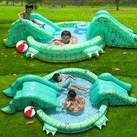 Multifunktions Große Größe Outdoor Aufblasbare Schwimmwasser-pool Mit Rutsche Heimgebrauch Spielplatz Piscina Bebe Zwembad