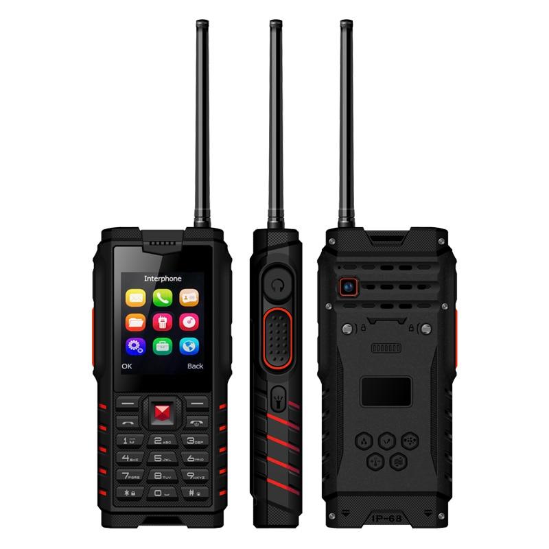 Ioutdoor T2 UHF Antenne Talkie Walkie PTT Double SIM Robuste Mobile Téléphone IP68 Étanche 4500 mah MP3 Débloqué Antipoussière Cellulaire téléphone