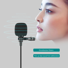 Mini Lapel Lavalier Clip on Condenser Microphone Mic with Type C Plug Wire System microphone for Android Smartphone