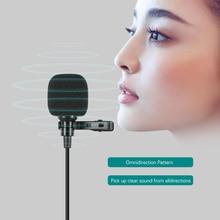 Mini Lapel Lavalier Clip on mikrofon kondensujący Mic z type c przewód z wtyczką mikrofon systemowy na smartfon z androidem