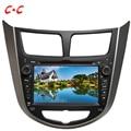 Actualizado Capacitiva Pantalla Coche Reproductor de DVD para Hyundai Verna Accent Solaris con GPS Radio TV Enlace Espejo + Free 8G Tarjeta de Mapa