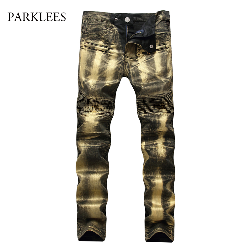 Brand Jeans Men 2017 Autumn New Wash Cotton Elasticity Jeans Cargo Pants High Street Casual Side Zipper Fold Denim Jeans Homme 2016 men jeans denim zipper fly cargo pants softener mid cotton shorts lightweight print brand new loose yellow green