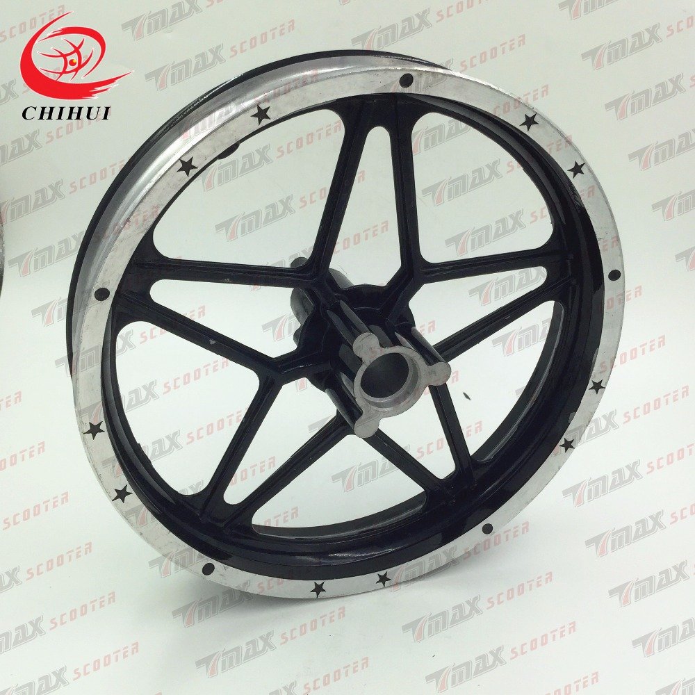 2 Wheeled Scooter Wheel Hubs/Alloy Front Wheel Rims for 2.50-10/3.00-10 Tyre (Scooter Parts&Accessories)