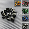 10x  Motorcycle Scooters Fairing Body Work Bolts Nuts M6 6MM Spire Speed Fastener Clips Screw for Yamaha Honda KTM Aprilia RSV4