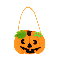 DST 2017 NEW Halloween Prop Stereo Hand Basket Goody Storage Bag With Smile Face For Children