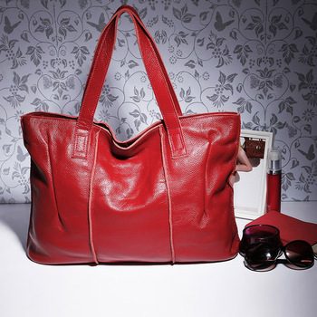 100% Genuine Leather Bag Large Women Leather Handbags Famous Brand Women Messenger Bags Big Ladies Shoulder Bag AWM108