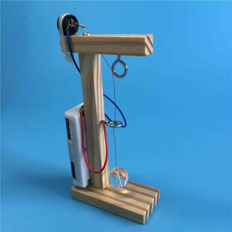 Ручной работы датчик землетрясения DIY сборка деревянная игрушка для научного эксперимента дети развитие интеллекта Education игрушки подарок