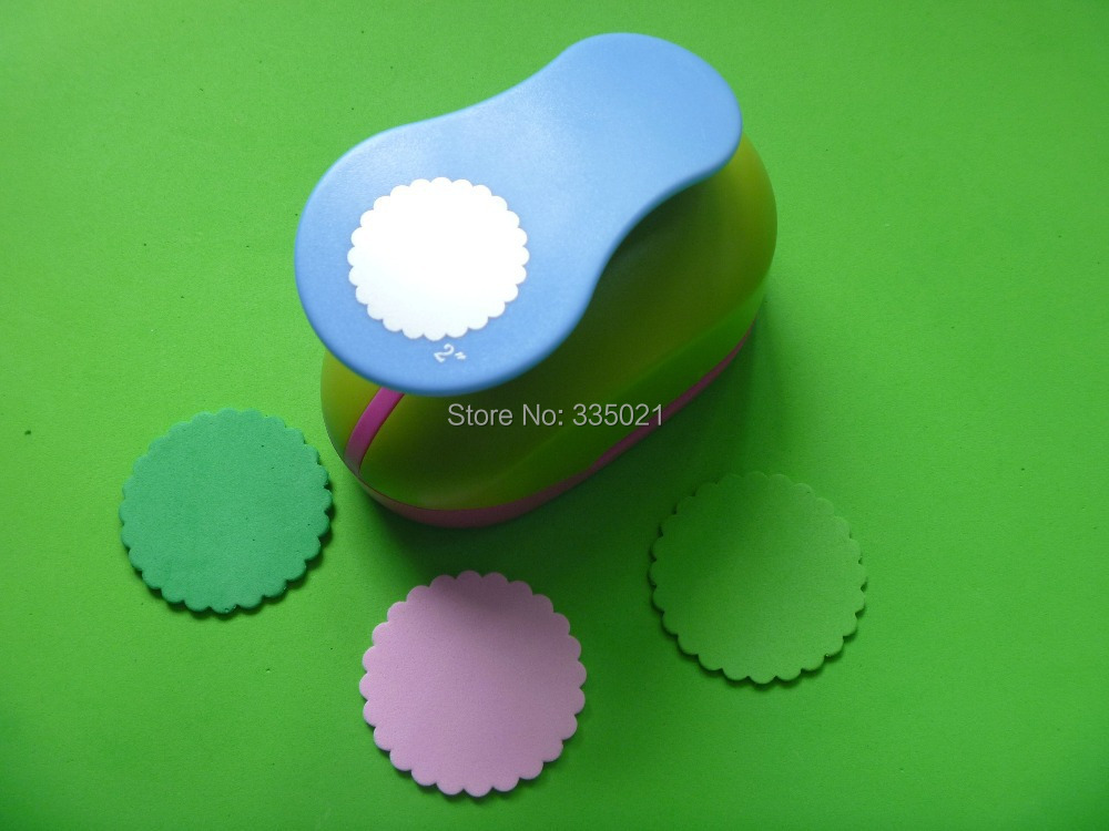 Free Shipping 2(5.0cm) Wave Circle EVA Foam Punch Paper Cutter Punches For Scrapbooking Handmade Hole Puncher Furador De Papel free ship punch paper punches for scrapbooking cortador de papel de scrapbook paper cutter furador de eva sacabocados s577