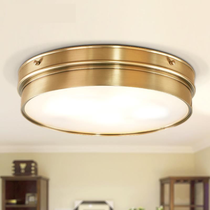 Kitchen vintage Copper ceiling Lamp light fixture Dining Room Bedroom Ceiling lights Restaurant boutiques Commercial Lighting