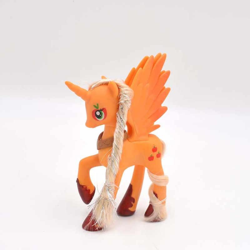 14 centímetros My little pony unicórnio bonito pvc PVC pouco ponis cavalo toy figuras de ação dolls para a menina do aniversário do natal presente