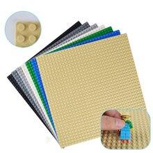 32*32 nokta taban plakası küçük tuğlalar için 10 renk taban plakası kurulu DIY oyuncak inşaat blokları çocuklar için uyumlu