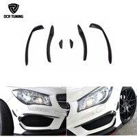 For Mercedes Benz W117 CLA Class CLA 250 CLA 260 CLA45 AMG Carbon Fiber Front Bumper Splitter Canard 2014 2016