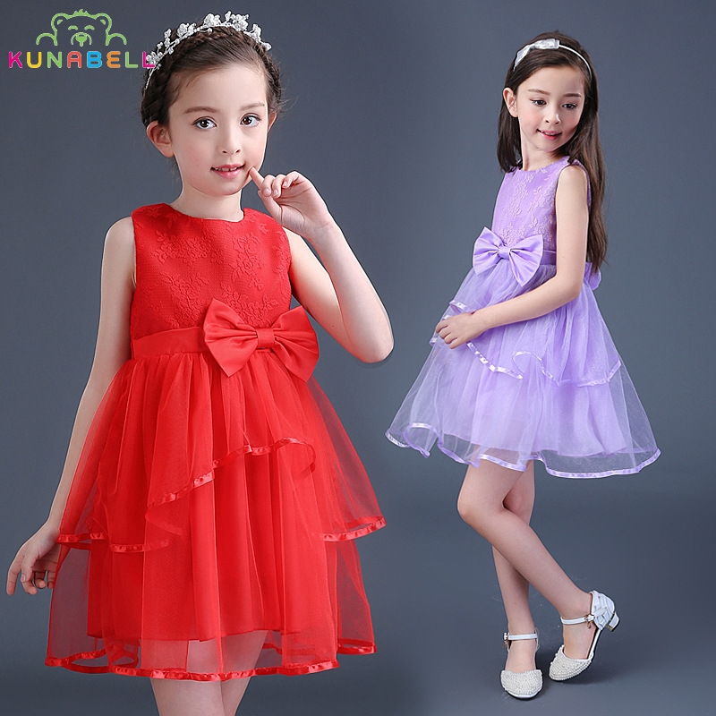 Brand Flower Girls Dress Wedding Birthday Party Pageant Dress Bridesmaid Toddler Tutu Princess Girls Kids Ball Dance Clothes D16 new brand flower girl dresses ivory real party pageant communion birthday party girls kids bridesmaid toddler wedding dress d10