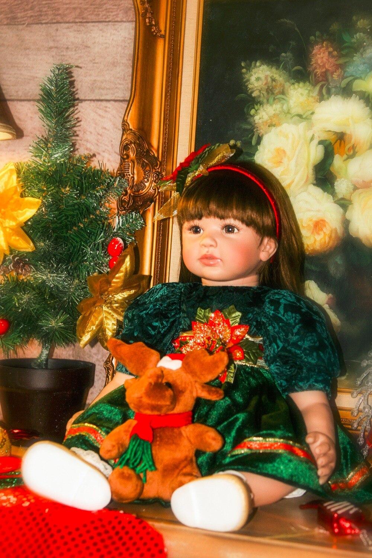Bebes Кукла реборн 22 дюйма Новое поступление Виктории укоренившиеся коричневые волосы мальчик реалистичный ребенок ручной работы полный Сил... - 5