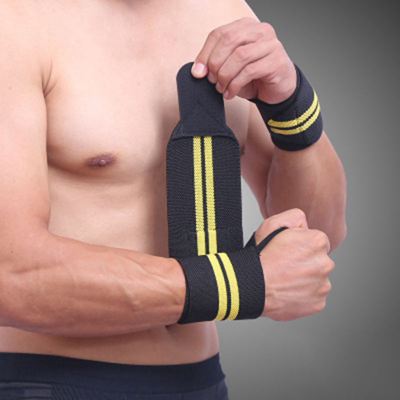 1Pcs Adjustable Wristband Elastic Wrist Wraps Bandages for Weightlifting Powerlifting Breathable Wrist Support 4colors