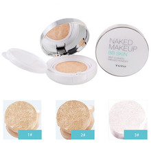 1Pc Cushion BB Cream Flawless Foundation Concealer Powder Cream Whitening Moisturizing Cover Powder Naked Makeup 3 Colors