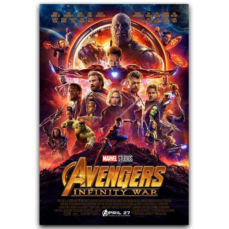 Avengers Infinity War Super Hero Movie Art Silk Poster Print 30x45cm 60x90cm Movie Pictures Poster Living Room Decor image