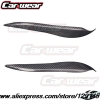 High Quality Carbon Fiber Decoration Headlight Eyelids Eyebrows Cover Trim 2pcs Fit For Toyota Crown 2007