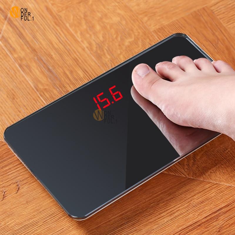 Novo Corpo Balanças Eletrônicas Casa Chamado Precisa Adulto Inteligente Espelho Mini Balança de Bolso Balança Digital Escalas de Peso Humano Mi