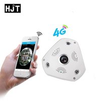 HJT HD 960P 1.3MP IP Camera 4G WIFI Built in Audio Fisheye 360 degrees wide angle Micro Sd Card Slot Security Indoor P2P Onivf
