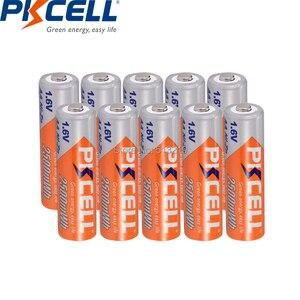 Image 1 - 10個pkcellバッテリーaa ni zn系aa充電式バッテリー1.6v 2500mWh bateria充電式batteriesforおもちゃカメラ電池