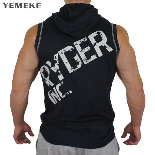 c87c45e1eaa50 2018 Men Cotton Hoodie Sweatshirts fitness clothes bodybuilding tank top  men Sleeveless Tees Shirt Casual golds vest Muscle Vest