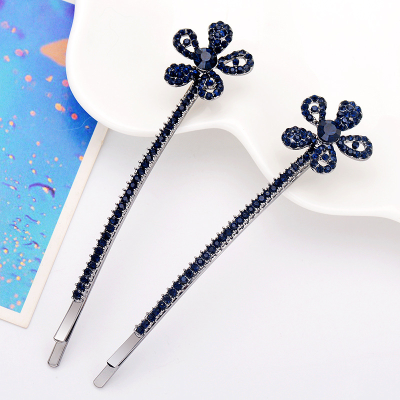 1 Pair/lot Crystal Hairpins For Women/Gril Hair Ornaments Length 8.7cm Hair Pins Hairclips Fashion Hair Jewelry Accessories