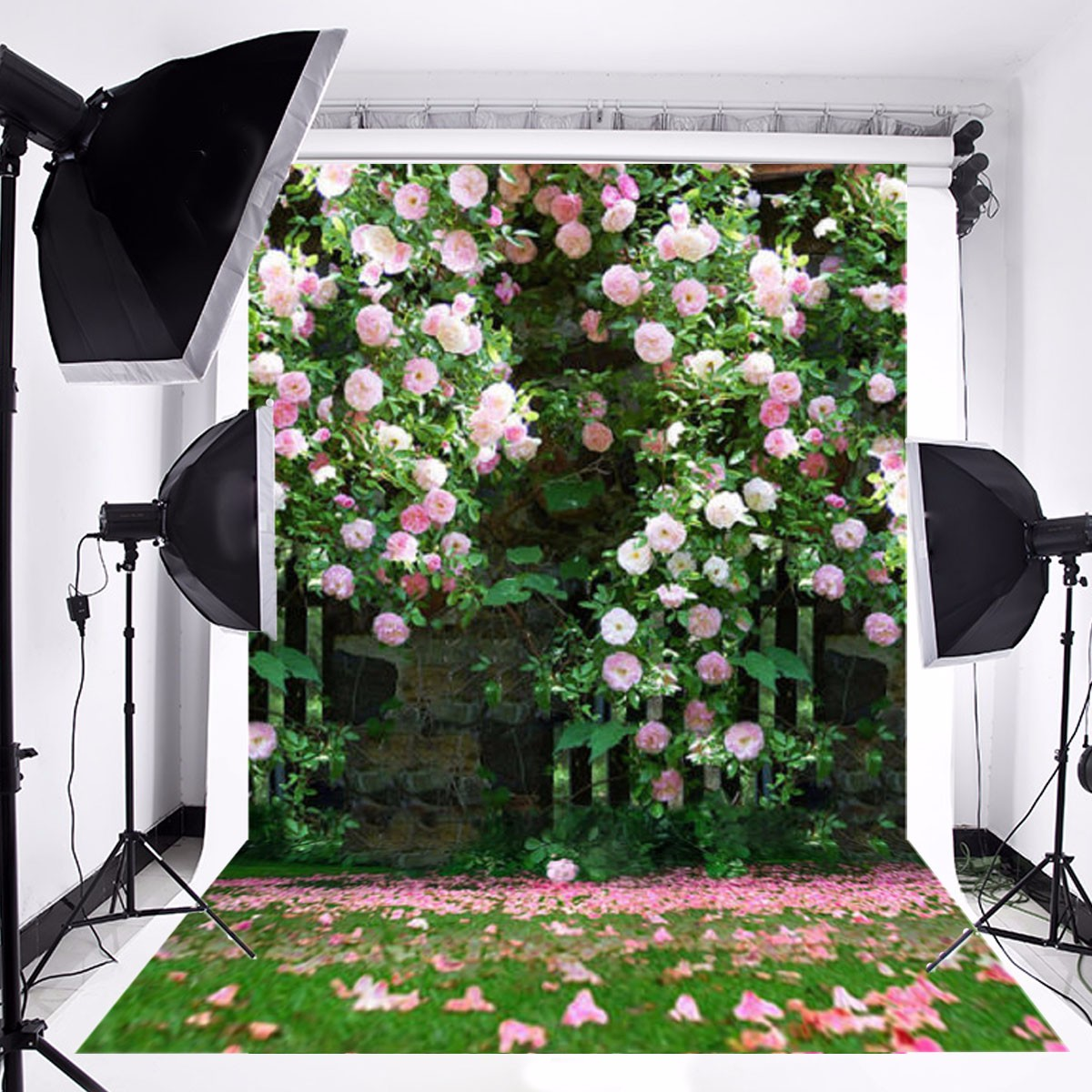 Freya Vinyl Romantic Photography Wall Studio Photography Background Cloth Flowers Garden For Wedding Birthday Backdrop 5x7FT kate natural scenery photography backdrop autumn defoliation for outdoor wedding photography background camera fotografica