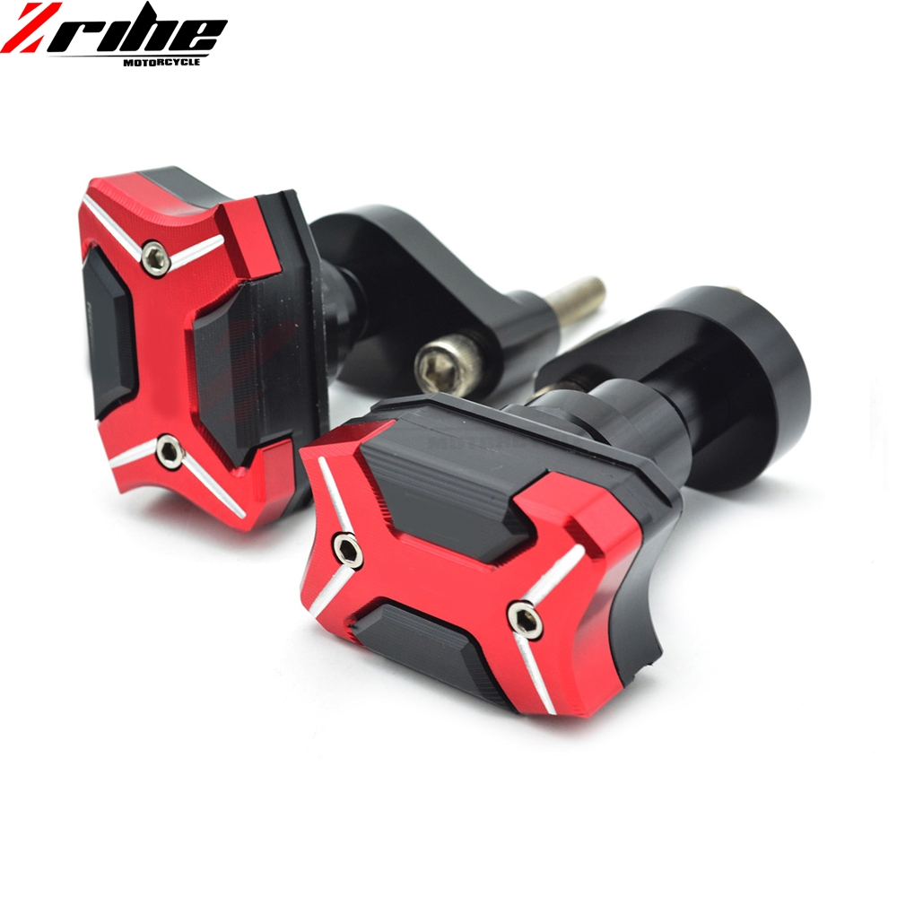 1 pair Aluminum Motorcycle Frame Sliders Crash Engine Guard Pad Aluminium Side Shield Protector For Yamaha YZF R1 2007-2008 07 8