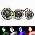 2 Шт./лот Автомобилей Angel Eyes Свет 64 мм 76 мм 89 мм Универсальный COB СИД DRL Дальнего света Противотуманные Фары Противотуманные фары 12 В Автомобиль для укладки