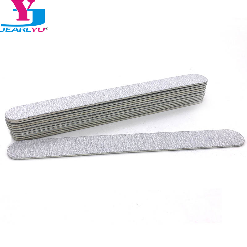 10 Pcs Grey Nail File Strong Thick Lime A Ongle Professional Wood Nail File 180/240 Kalk Nagels Sanding Nail Art Files Kit Tool
