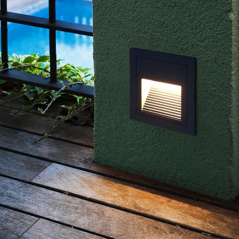 Lampe extérieure de lumière de passerelle de capteur de LED étanche Whit IP65 place en aluminium fixée au mur pour le Patio de rue de chemin de jardin à la maison
