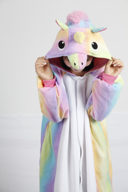 c874d4d60 New Adult Sleepwear Unisex fleece Cartoon Rainbow Pegasus Onesies ...