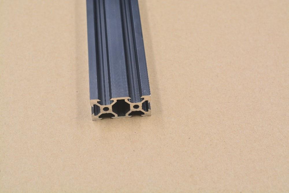 2040 Aluminum Extrusion Profile European Standard  V-slot Black Length 300mm   Workbench 1pcs